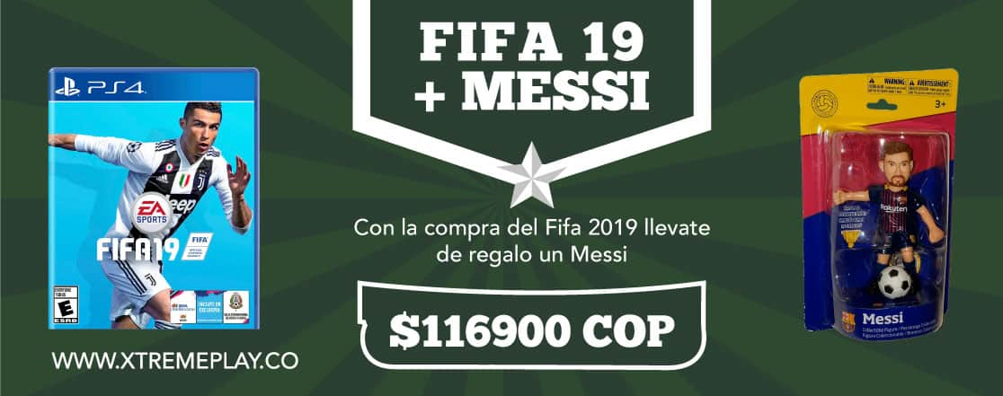 Compra FIFA 19  y te regalamos  una figura Messi
